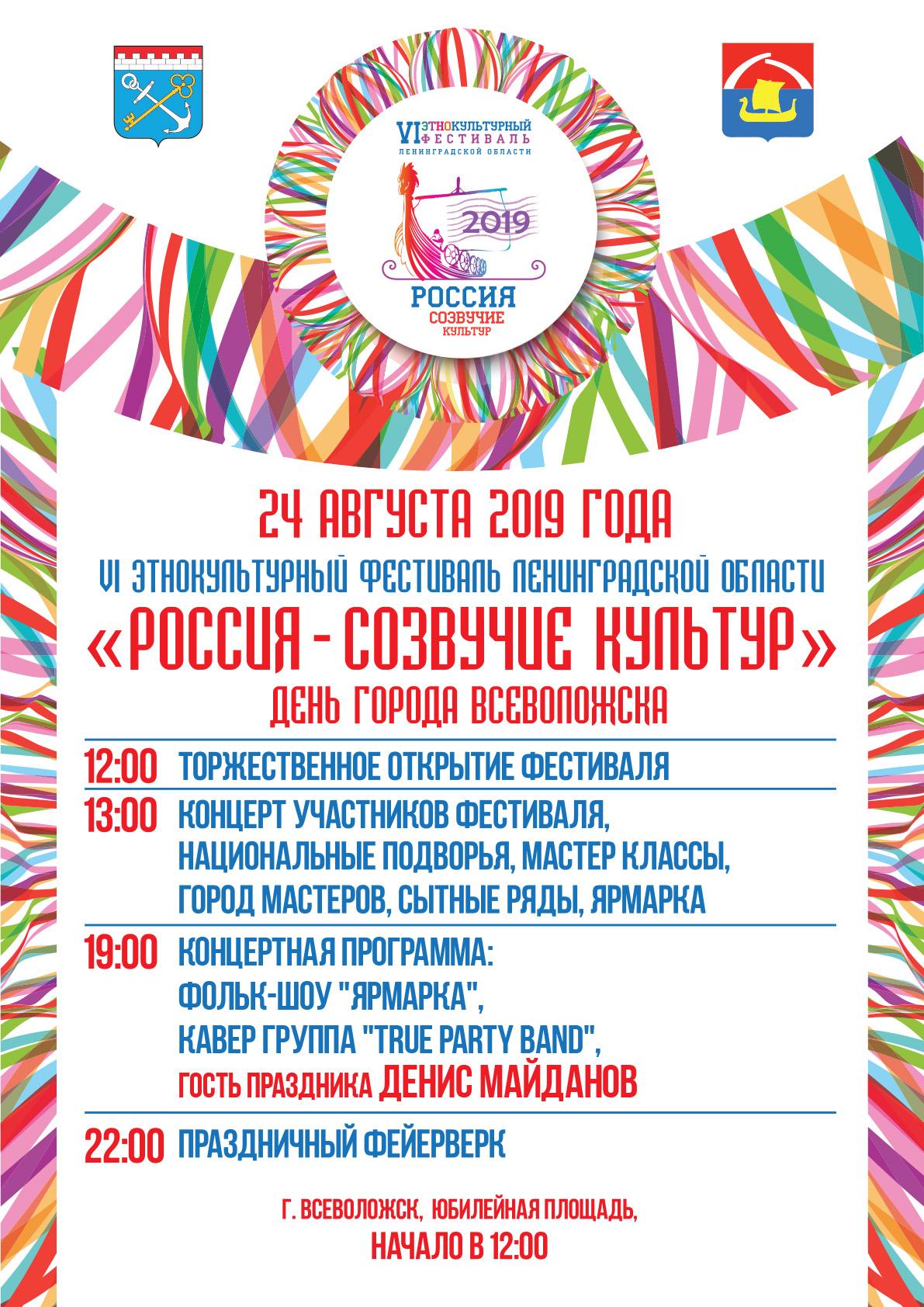 VI Этнокультурный фестиваль Ленинградской области @ Юбилейная площадь
